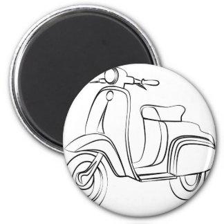 Vintage Scooter 6 Cm Round Magnet