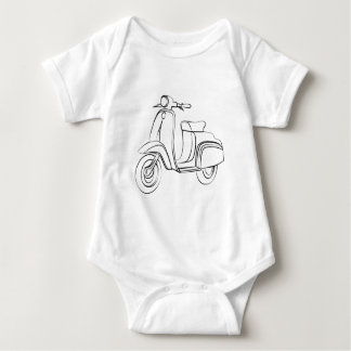 Vintage Scooter Baby Bodysuit