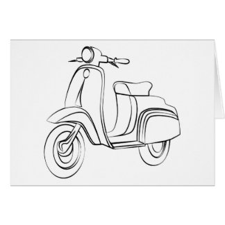 Vintage Scooter Card