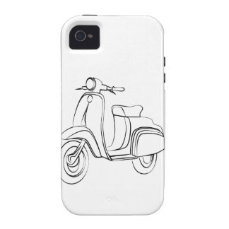 Vintage Scooter Case-Mate iPhone 4 Case
