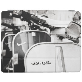Vintage scooter in Rome Italy | Black and White iPad Cover