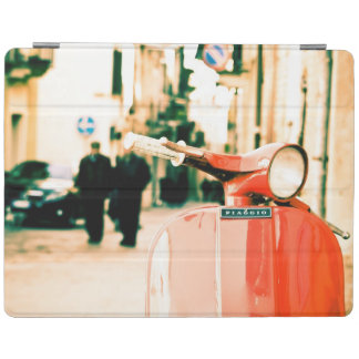 Vintage scooter in Rome Italy | Red scooter iPad Cover