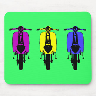 Vintage scooter pop art style mouse mat