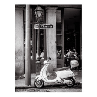 Vintage Scooter Postcard | Old scooter | Paris