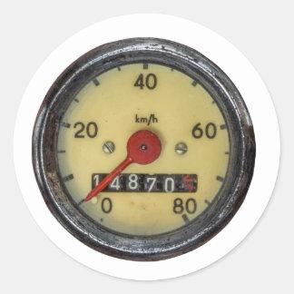 Vintage Scooter Speedometer Classic Round Sticker