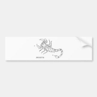 Vintage Scorpio Bumper Sticker