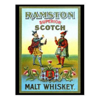 Vintage Scotch Whiskey LABEL Postcard