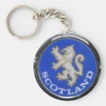 vintage scotland badge key chains