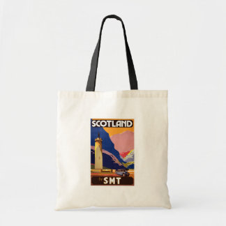 Vintage Scotland Bus Company Travel Poster Tote Bags