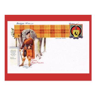 Vintage Scotland, Clan MacMillan Postcard
