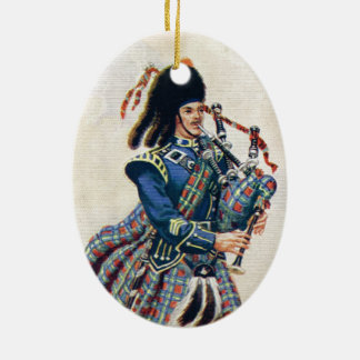 Vintage Scotland, Follow the Bagpipes Christmas Ornament