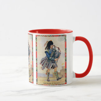 Vintage Scotland, Follow the Bagpipes Mug