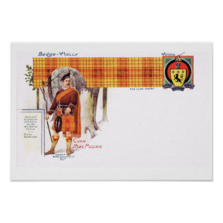 Vintage Scotland, Fraser, Clan MacMillan Poster