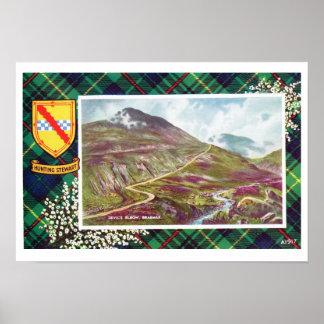 Vintage Scotland, Fraser, Hunting Stewart, Braemar Poster