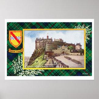 Vintage Scotland, Fraser, Hunting stewart edinbur Posters