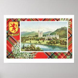 Vintage Scotland, Fraser, Royal Stewart, Balmoral Poster