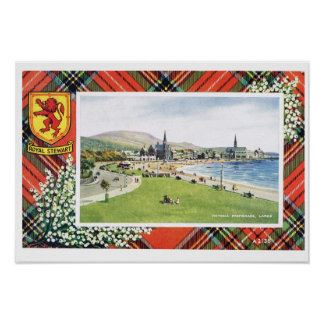 Vintage Scotland, Fraser, Royal Stewart, Larcs Poster