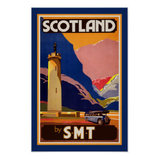 Vintage Scotland Travel Poster