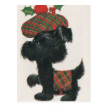 Vintage Scottie Dog Postcard
