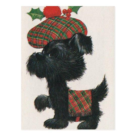 Vintage Scottie Dog Postcard