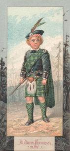 Scottish christmas cards zazzle uk vintage scottish boy christmas greeting card m4hsunfo