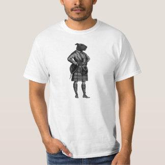 vintage scottish dog in kilt T-Shirt