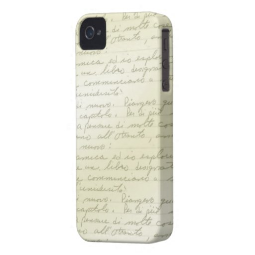 Vintage Scribbles Deco BlackBerry Case