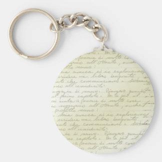 Vintage Scribbles Deco Keychain