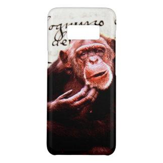 vintage scripts funny Chimpanzee Case-Mate Samsung Galaxy S8 Case