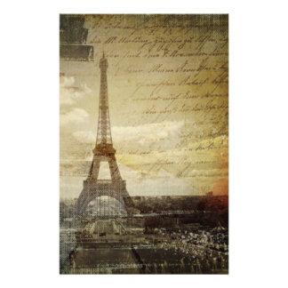 vintage scripts Paris Eiffel Tower Wedding Personalized Stationery