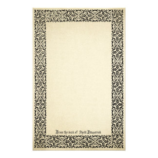 Vintage Scroll Border Parchment Personalized Stationery