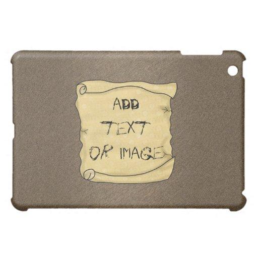 Vintage Scroll Brown Hard Shell iPad Case