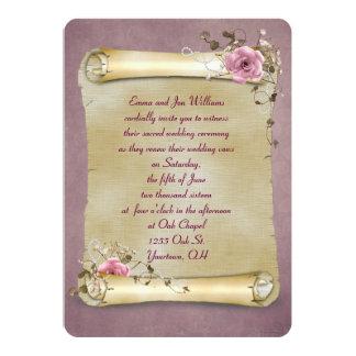 Vintage Scroll Vow Renewal Custom Invites