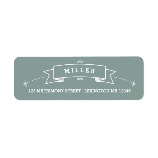 Vintage Scroll Wedding Address Label