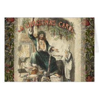 Vintage Scrooge Ghost of Christmas Present Greeting Card
