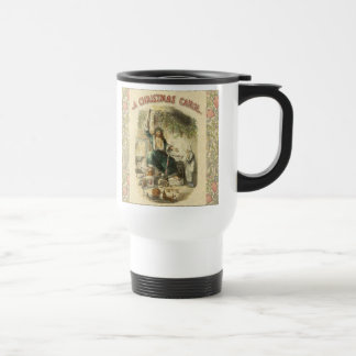 Vintage Scrooge Ghost of Christmas Present Travel Mug