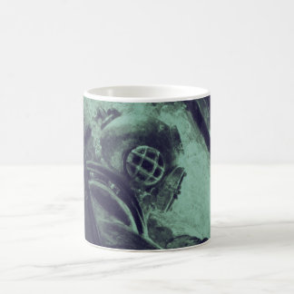 Vintage Scuba Diver Industrial Welding Underwater Coffee Mugs