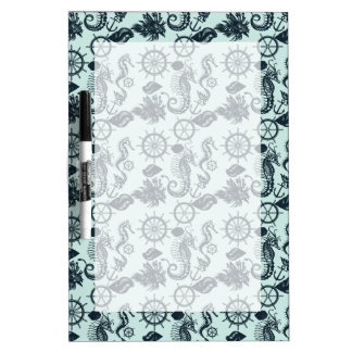 Vintage Sea Animal Pattern Dry Erase White Board