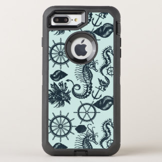 Vintage Sea Animal Pattern OtterBox Defender iPhone 8 Plus/7 Plus Case