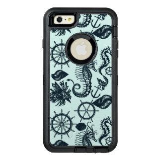 Vintage Sea Animal Pattern OtterBox Defender iPhone Case