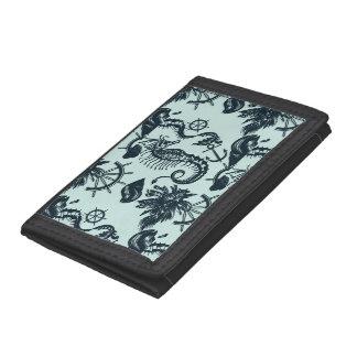 Vintage Sea Animal Pattern Tri-fold Wallet