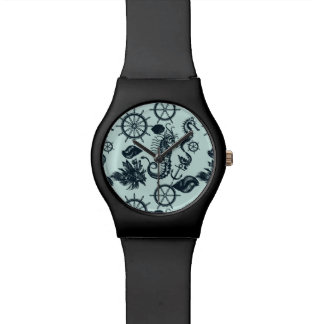 Vintage Sea Animal Pattern Wristwatches