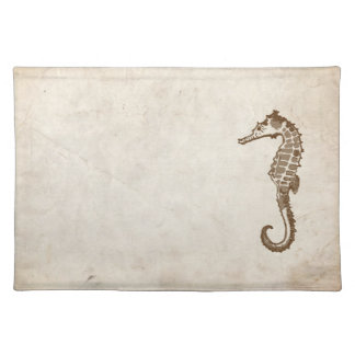 Vintage Sea Horse Beach Placemat