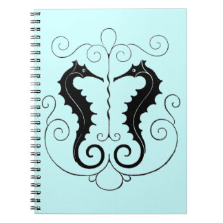 Vintage Sea Horses Spiral Notebook