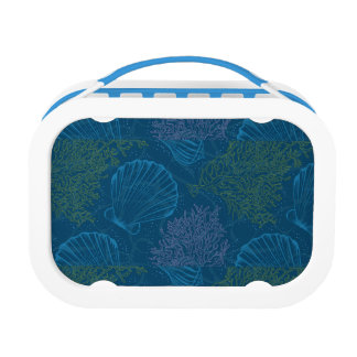 Vintage Sea Pattern Lunch Box