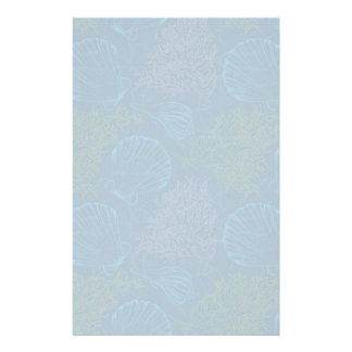 Vintage Sea Pattern Stationery Paper