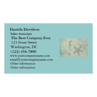 Vintage Sea Shells, Starfish, and SeaHorse Business Card