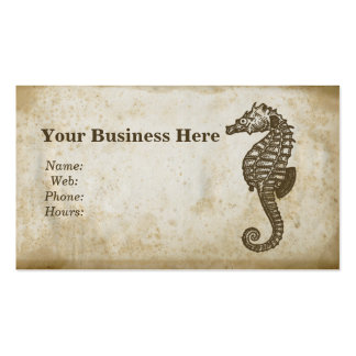 Vintage Seahorse Business Card