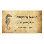 Vintage Seahorse Illustration Business Card