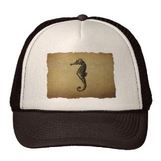 Vintage Seahorse Illustration Hats